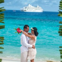 fiji wedding cruise couple