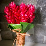 fiji wedding flowers ginger red