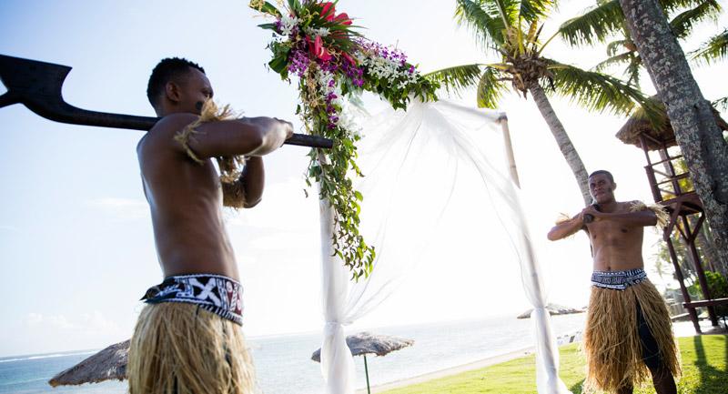 outrigger fiji beach wedding