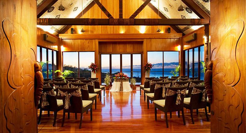 outrigger resort fiji wedding chapel