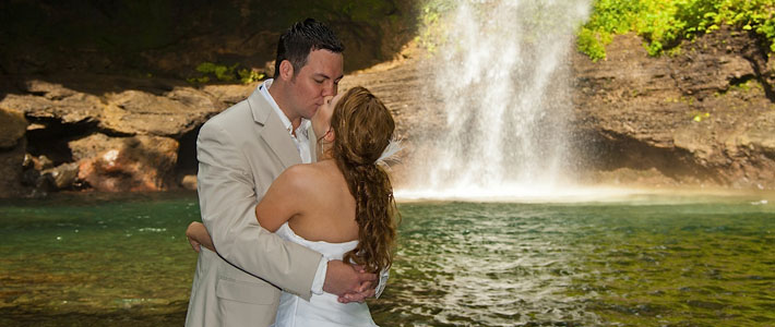 wedding waterfall fiji